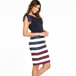 NEW • Ted Baker • Hilila Rowing Stripe Dress 6